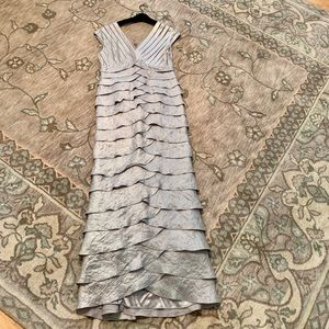 Adrianna Papell silver formal dress size 12